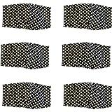 Dalay-Cubrebocas, de DAMA paquete de 6 piezas, en tela likra estampado, lavable, con filtro de seguridad en medio…
