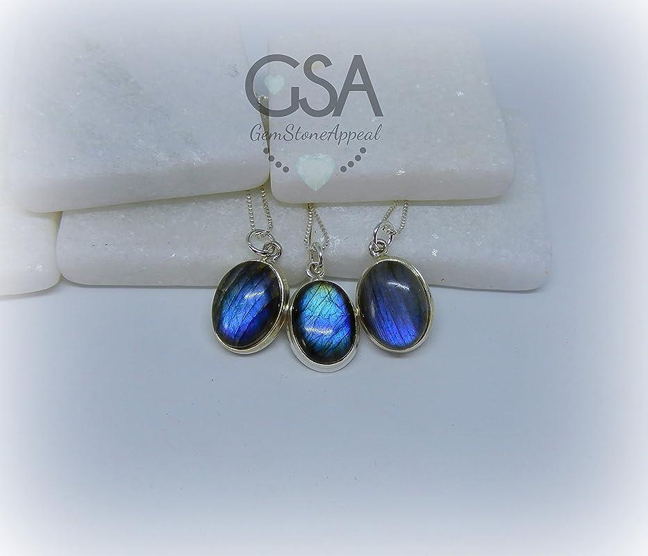Labradorite Necklace,choker Necklace,Natural Gemstone Jewelry,Blue Flash Genuine Labradorite,Gemstone Appeal,Boho Necklace,Healing Teardrop