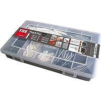 TOX Sortimentskoffer Plug und Play, Inhalt 320 Teile mit Trika 5/31, 6/36, 8/51 Dübeln - Schrauben, 01190101