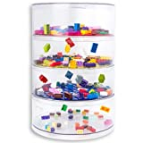 BLOKPOD Toy & Lego Storage Box • Plastic Stacking Boxes & Organiser • Large Size: 24 Litres• Clear • 15 YEAR WARRANTY