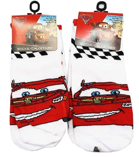 Disney Pixars Cars 2 White Lightning McQueen Kids Socks (Size 6-8, 2