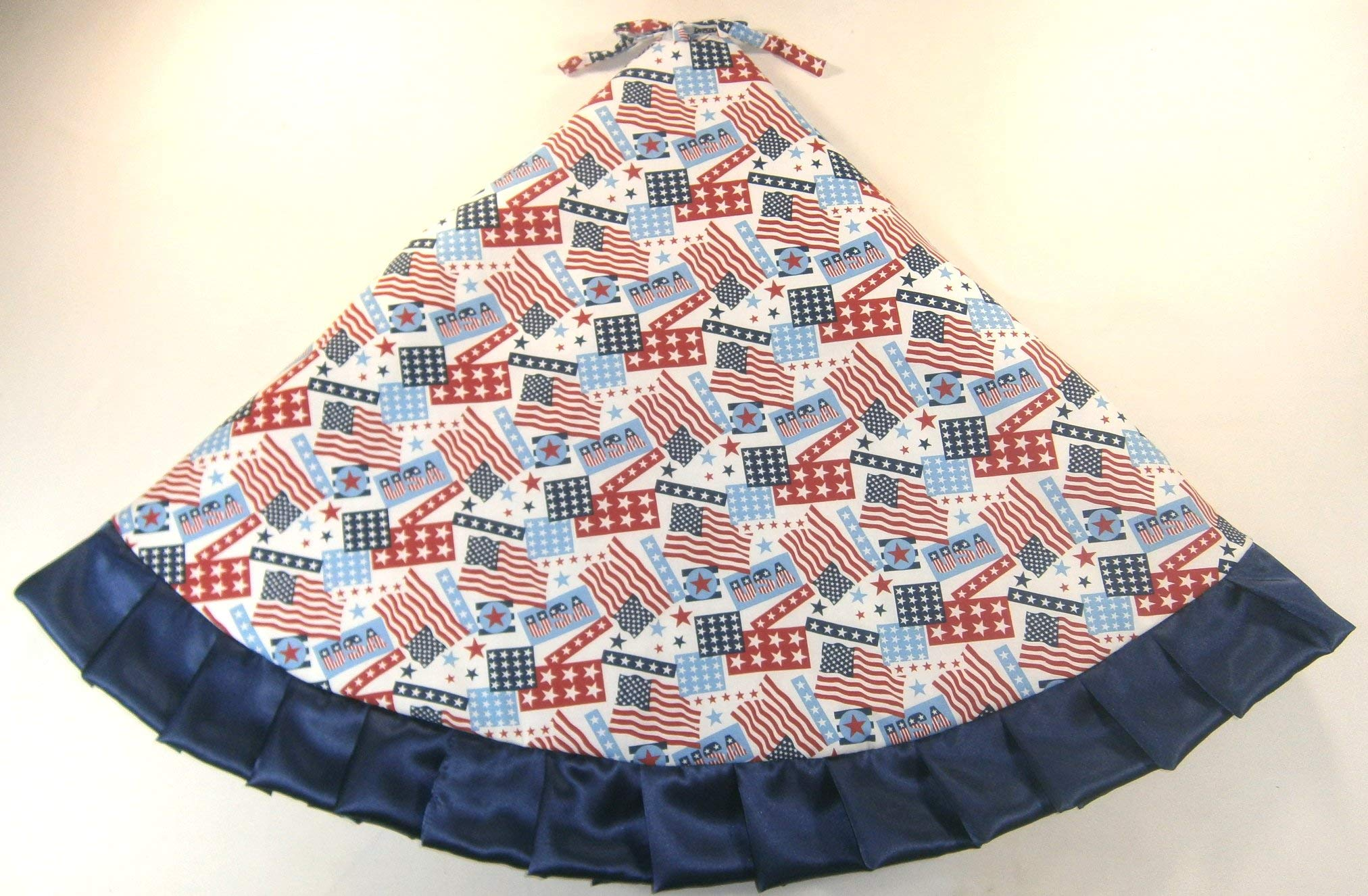 Arkansewn Fourth of July Tree Skirt, 47'', Flags and Stars