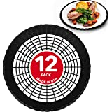 "Stock Your Home 9"" Paper Plate Holder in Black (12 Count) - Paper Plate Holders Plastic Heavy Duty - Plastic Paper Plate…"