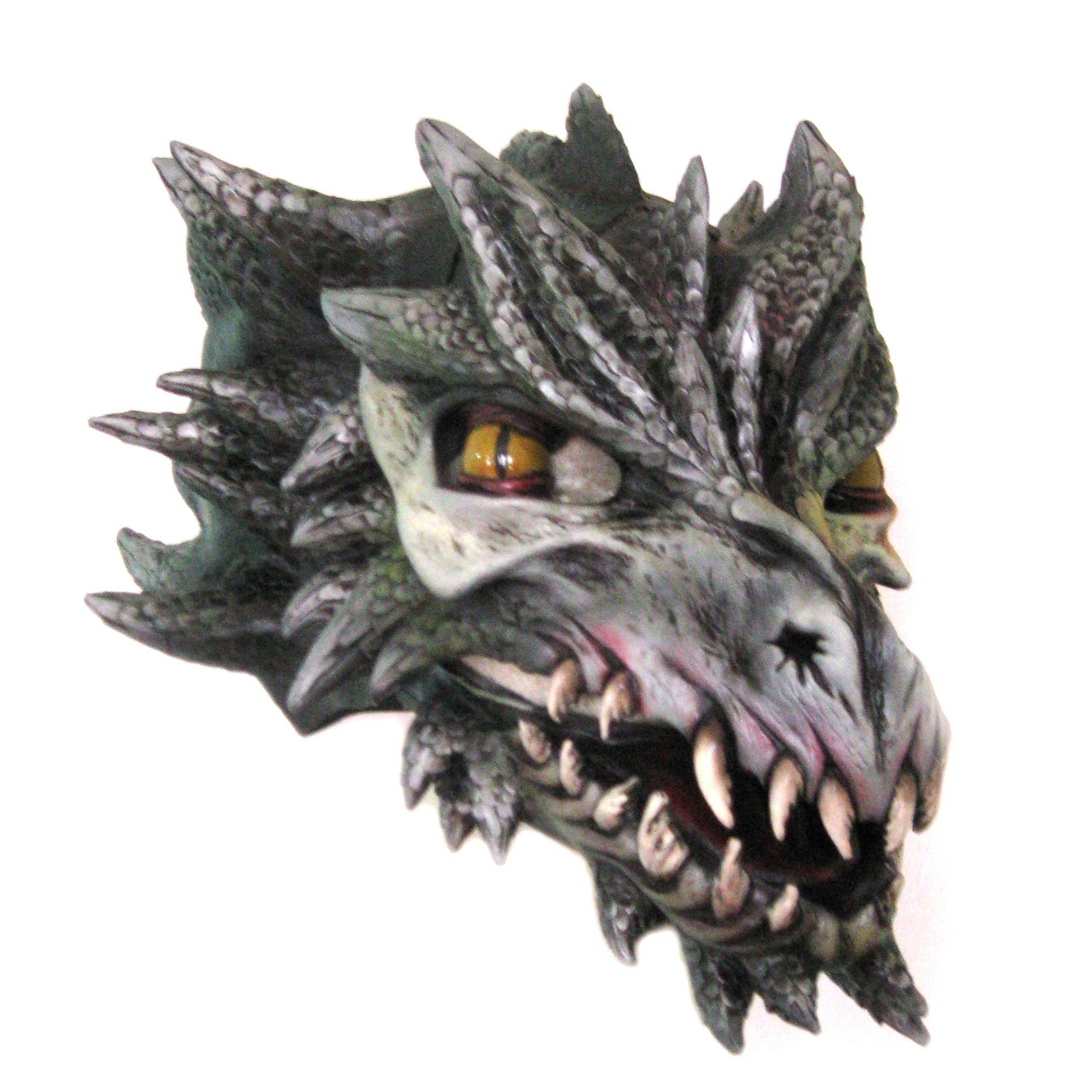 Zagone Studios Black Dragon Draco Deluxe Adult Latex Mask