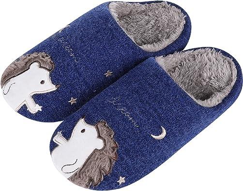 3D Novedad Zapatillas de Estar C/ómodo y Antideslizante YAOMEI Unisex Unicornio Zapatillas de Casa para Ni/ños Ni/ñas Invierno Interior Pantuflas Caliente