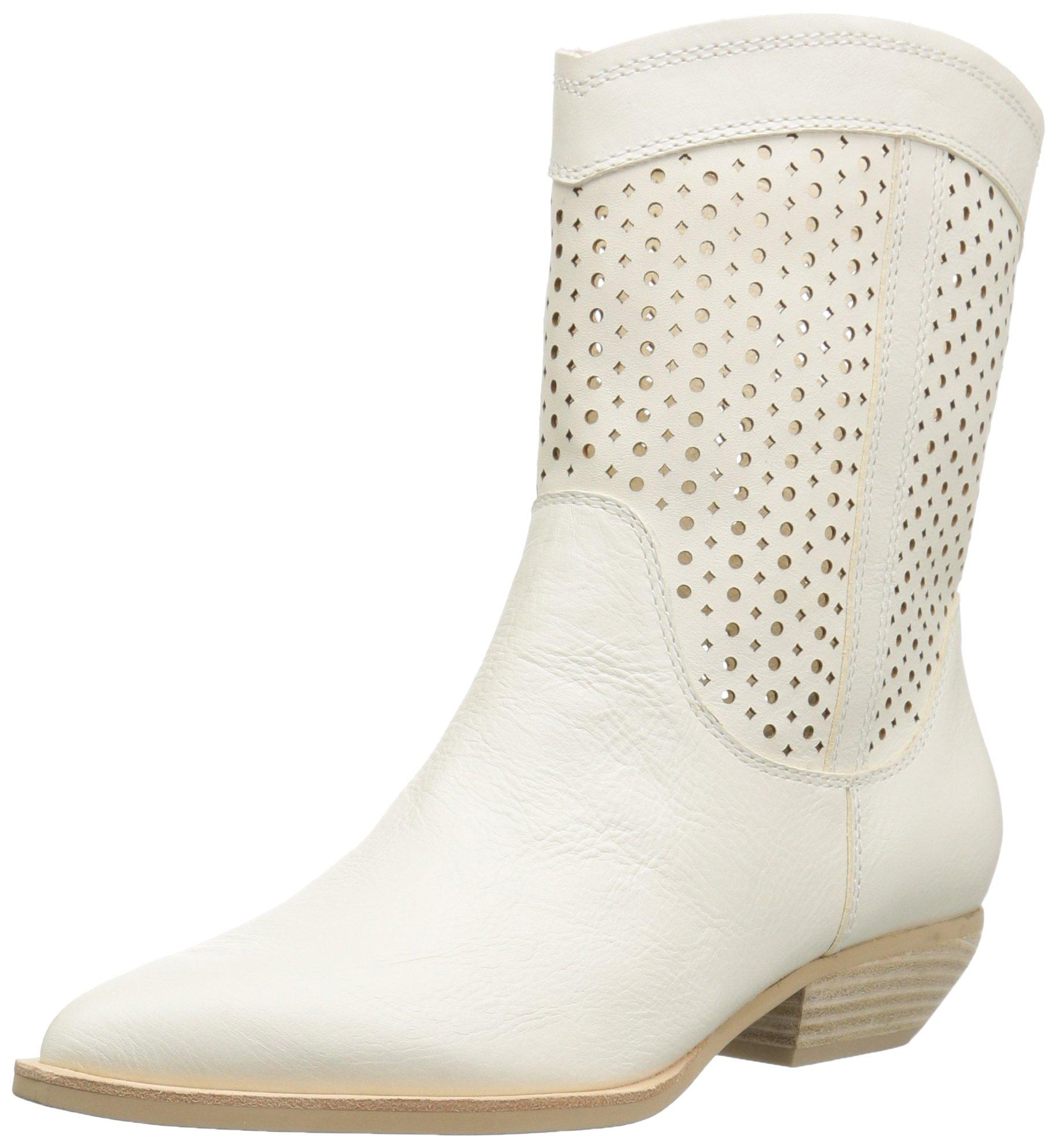 Dolce Vita Women's Union Fashion Boot, Off White Leather, 7.5 M US