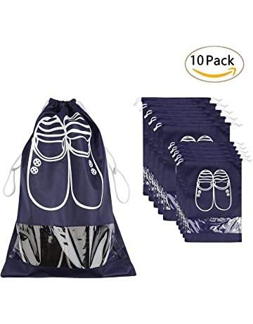 Bolsas para Zapatos,NEWSTYLE 10 Pack Bolsa Impermeable Telas no Tejidas con Ventana Transparente con