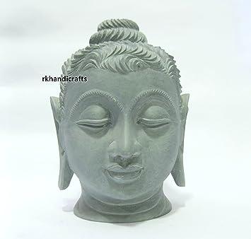 Amazon Com 8 Height Black Natural Marble Buddha Face Cum Head Nice
