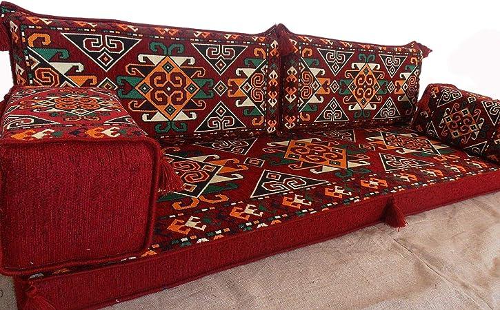 Cuscini Arabi.Tribal Floor Seating Fatto A Mano Set Divani Arabo Majlis
