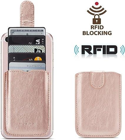 Amazon.com: Soporte para tarjetas de teléfono RFID, funda de ...