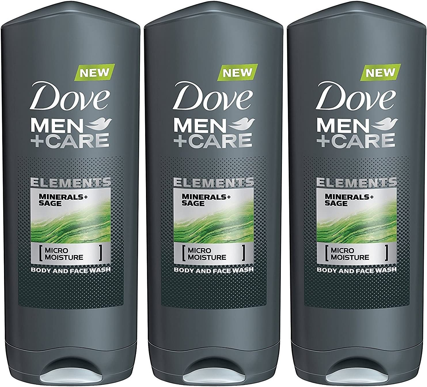 Amazon Com Dove Men Care Elements Body Wash Minerals And Sage 13 5 Ounce Pack Of 3 Health Personal Care