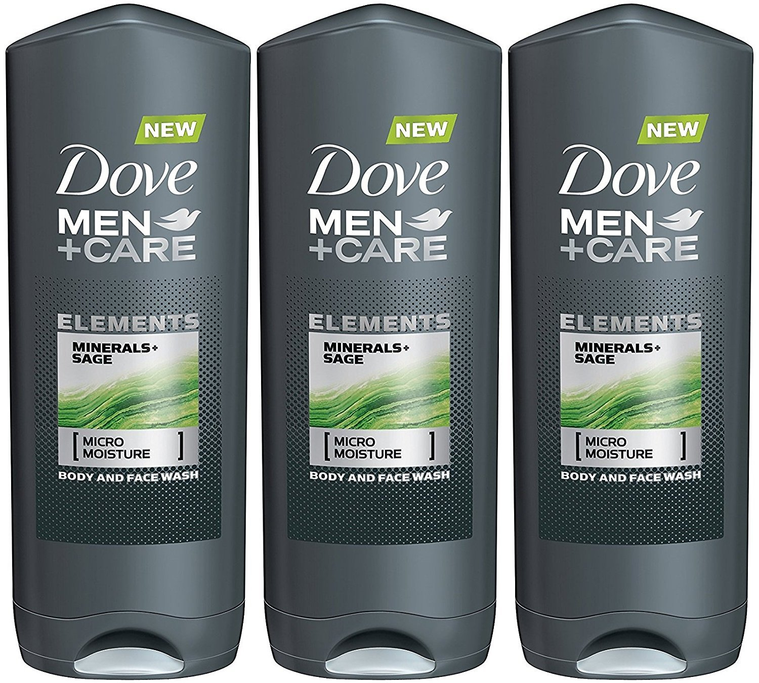 Dove Men + Care Elements Body Wash, Minerals and Sage, 13.5 Ounce(Pack of 3) by Dove