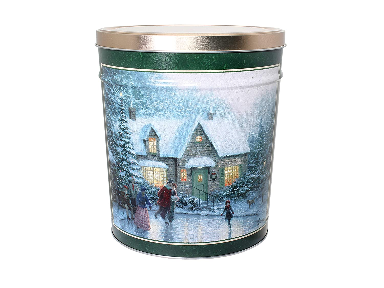 C.R. Frank Popcorn - Gourmet Popcorn Tin, 3.5 Gallon, Skater's Pond (Butter and Caramel)