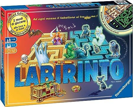 Ravensburger Labirinto Glow in the Dark Niños y adultos Viajes/aventuras - Juego de tablero (Viajes/aventuras, Niños y adultos, 20 min, 30 min, Niño/niña, 7 año(s)) , color/modelo surtido: Amazon.es: Juguetes y juegos