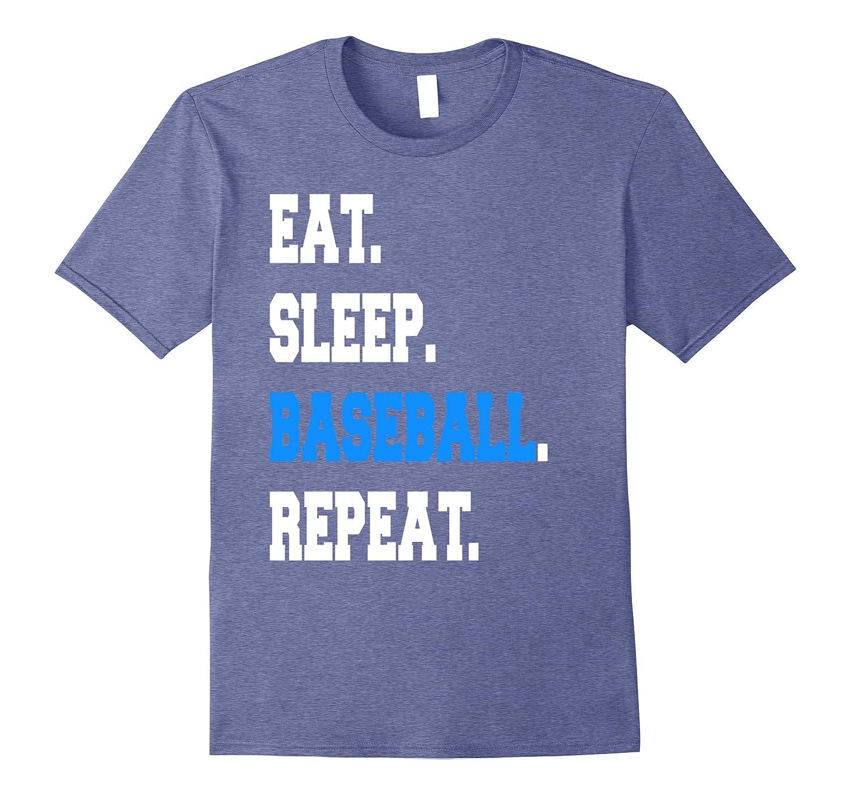 Cool Eat Sleep Baseball Repeat Coach Parent Sayings T-shirt-TH