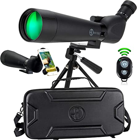 Gravitude 20-60x80mm HD Spotting Scope with Tripod and Carry Case