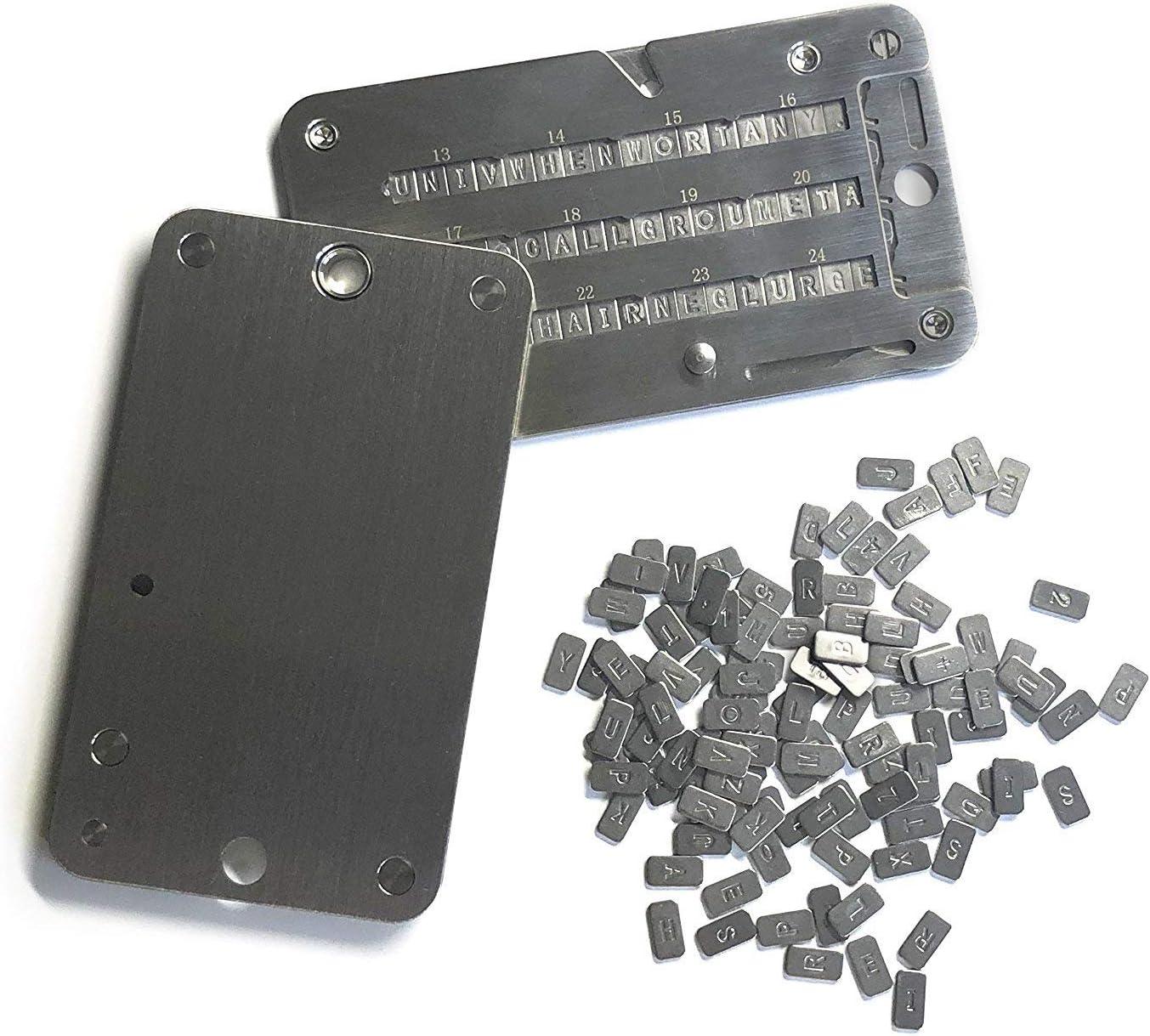 Trezor e KeepKey portafoglio Cryptovaluta indistruttibile compatibile con Ledger Nano S portafoglio in acciaio