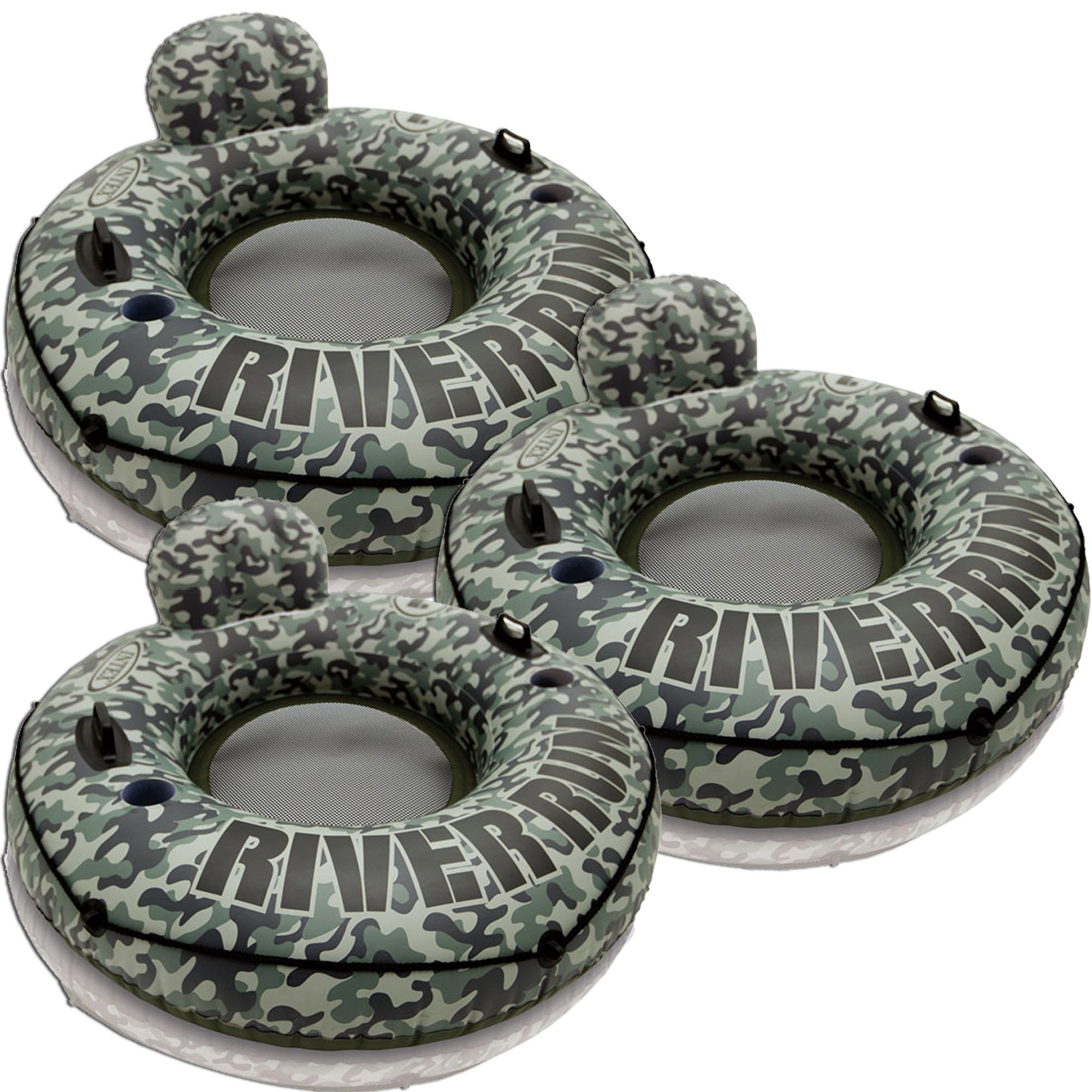 3 Pack Intex River Run 53-Inch Inflatable Tube (Camo) by Intex