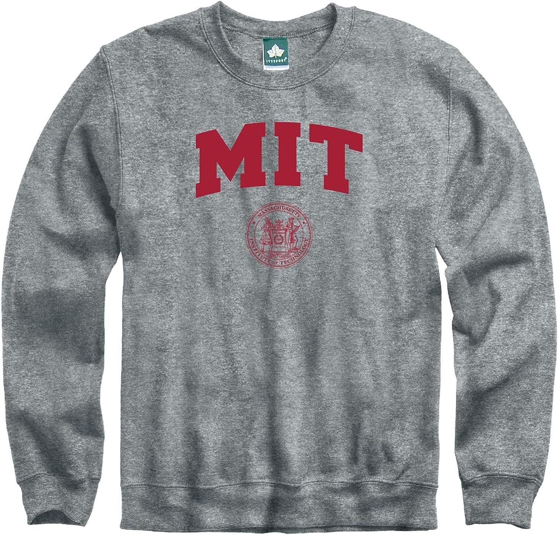 Ivysport Crewneck Sweatshirt, Cotton/Poly Blend, Heritage Logo Grey, NCAA Colleges and Universities