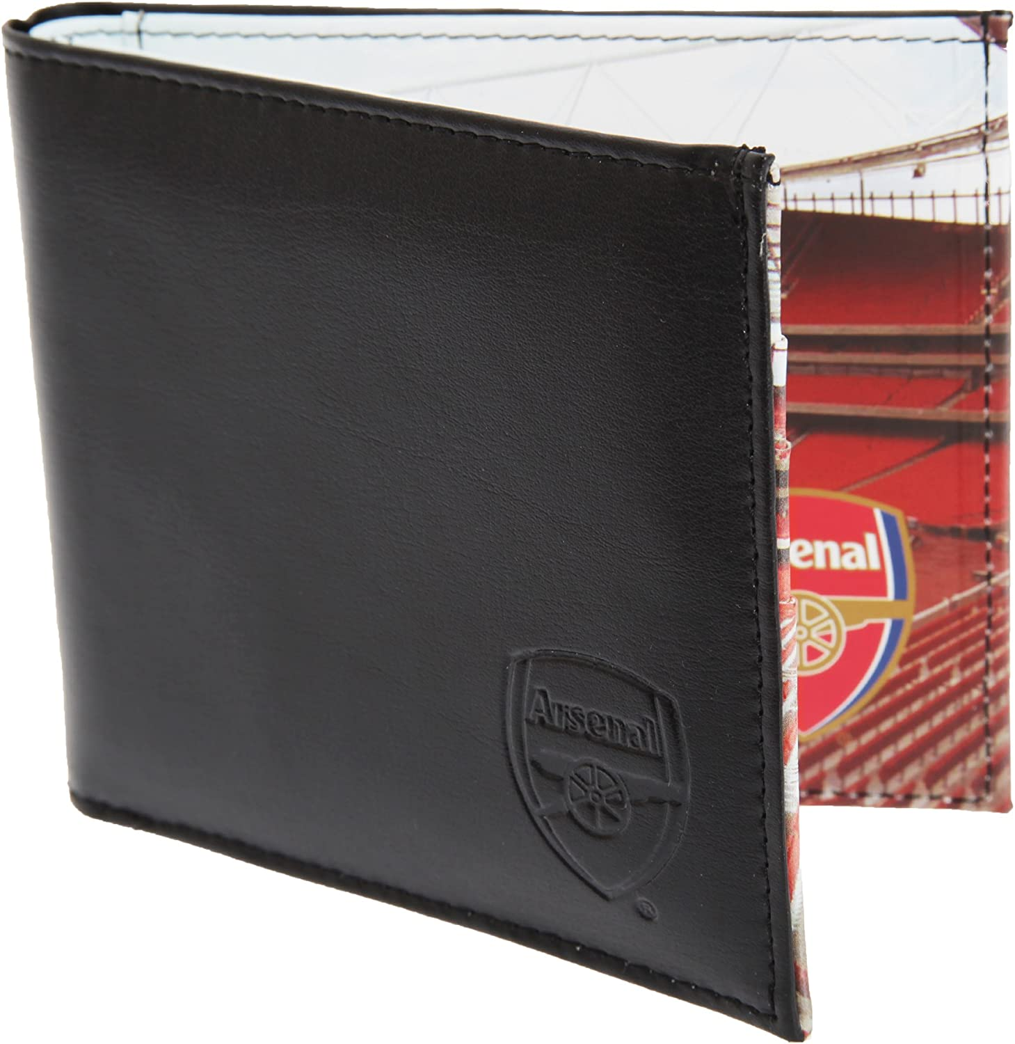 Football Fc Club Crest Official 7000 Arsenal Embroidered Black Leather Wallet