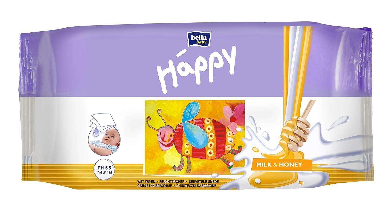 Bella Baby Happy Feuchttücher mit Milch & Honig 6x64 Stck. TZMO GmbH