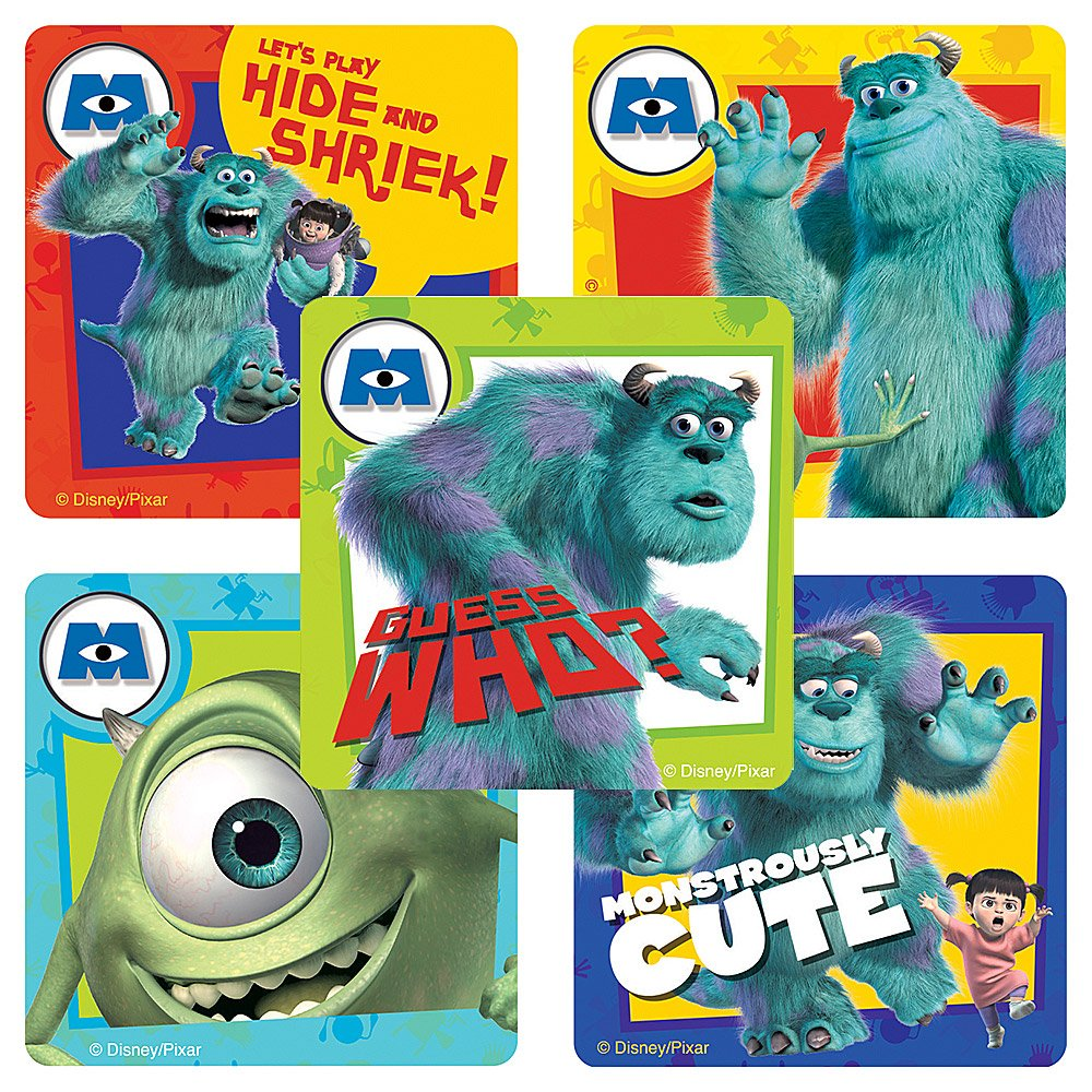 Disney Monsters, Inc. Stickers  Party Favors  75 per Pack by SmileMakers