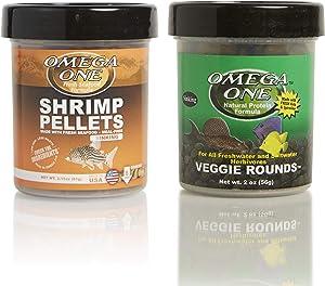 Omega One Bottom Feeder Combo, Variety Pack of 2