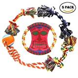 Dog Rope Toys 5 Pack Chew Toys Gift Set for Medium to Small Pet Teething Toys