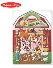 Melissa & Doug Puffy Sticker Play Set - On The Farm - 52 Reusable Stickers, 2 Fold-Out Scenes