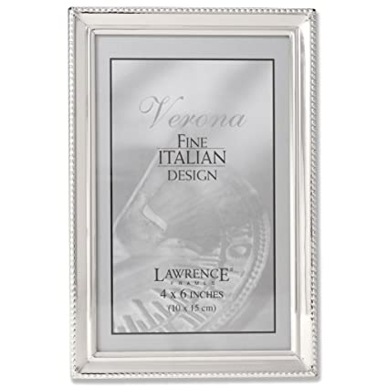 Amazon Lawrence Frames Polished Silver Plate 4x6 Picture Frame