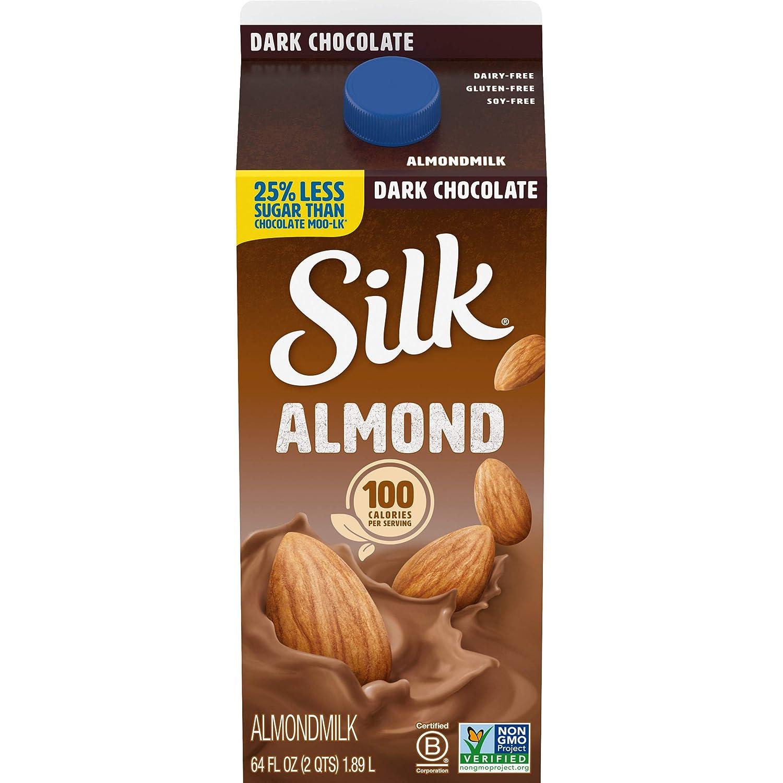 White Wave Foods Silk Almond Milk Dark Chocolate, 64 oz