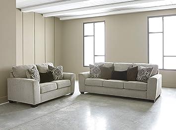 Amazon.com: Parlston Contemporary Alloy Color Fabric Sofa and ...