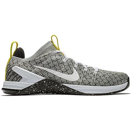 Nike Metcon Dsx Flyknit 2 X, Zapatillas de Deporte para Hombre, (Black/White/Dynamic Yellow 017), 44 EU: Amazon.es: Zapatos y complementos