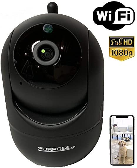 [Purpose] 1080p Wi-Fi Camera - 2-Way Audio - Pan Tilt Zoom Smart IP Home  Motion Tracking Detection - Indoor Baby Pet Home Office Surveillance  w/Night