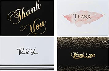Thank You Cards with Envelopes 48 Gold Foil Eucalyptus Bridal Shower Wedding Baby Shower Cards 4x6 inches