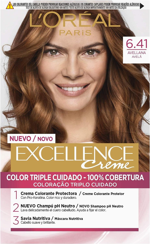 L'Oréal Paris Excellence Coloración Crème Triple Protección, Tono: 6.41