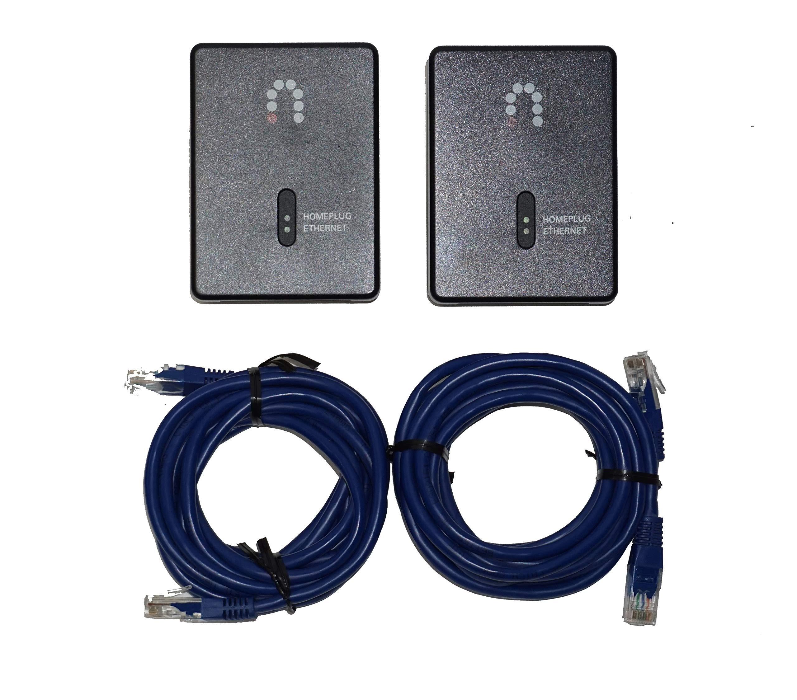 2 Pack - Sling Media SlingLink Turbo W1 HomePlug Ethernet Adapter (ES157089)