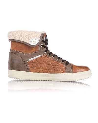 Baskets Couleur Homme Et Shoes Matelassées Fourrées Mustang Tn7POw