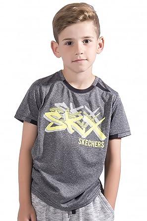 Skechers Boys Printed T Shirt Mesh