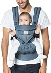 Ergobaby Omni 360 Cool Air Mesh Ergonomic Baby Carrier All Carry Positions, Newborn to Toddler, Oxford Blue
