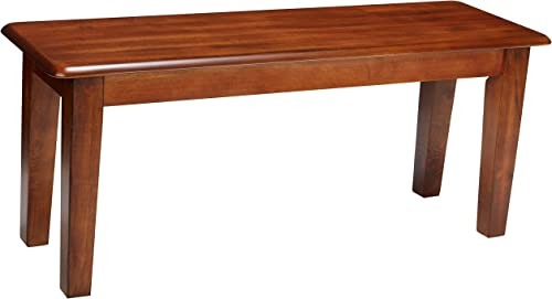 Ashley Furniture Signature Design – Berringer Dining Bench – Rectangular – Vintage Casual – Rustic Brown Finish