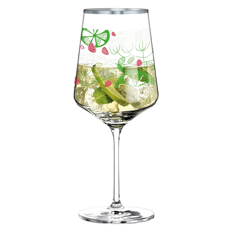 600 ml aus Kristallglas Aperitif-Glas von Virginia Romo mit edlen Platinanteilen Hugo-Glas RITZENHOFF Hugo R