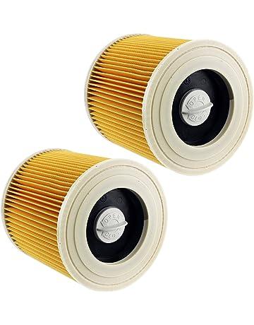 Spares2go - 2 cartuchos de filtro premium para la aspiradora Karcher WD2, WD3 y WD3P