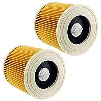 Spares2go - 2 cartuchos de filtro premium para la aspiradora Karcher WD2, WD3 y WD3P, seco y húmedo