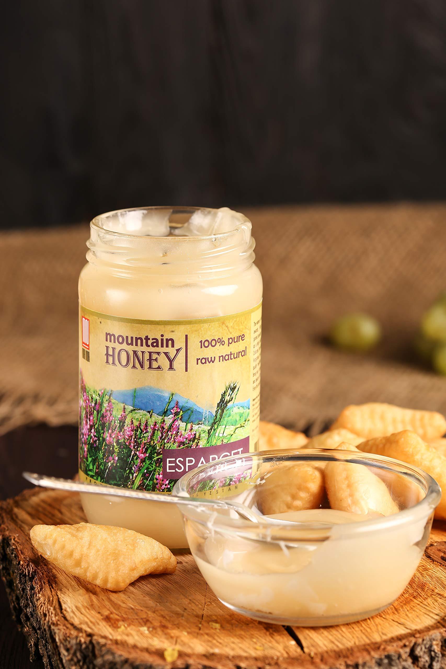 Kyrgyz Honey; Esparcet Raw Natural Sainfoin Mountain Honey; 17.63 Ounce Glass Jar by Mira Nova (Image #3)