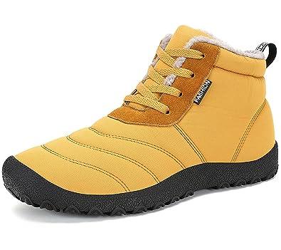 boots fourrées femme a lacegs jaune