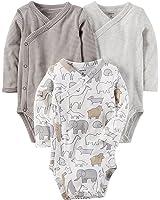 Amazon Com Kushies Short Sleeve Wrap Bodysuit Blue 3