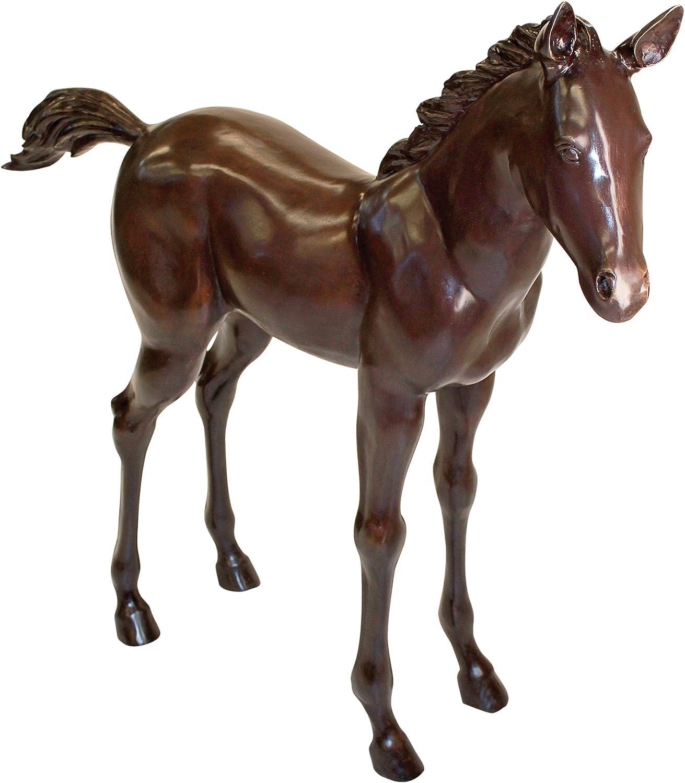 Design Toscano Horse Foal Cast Bronze Garden Statue