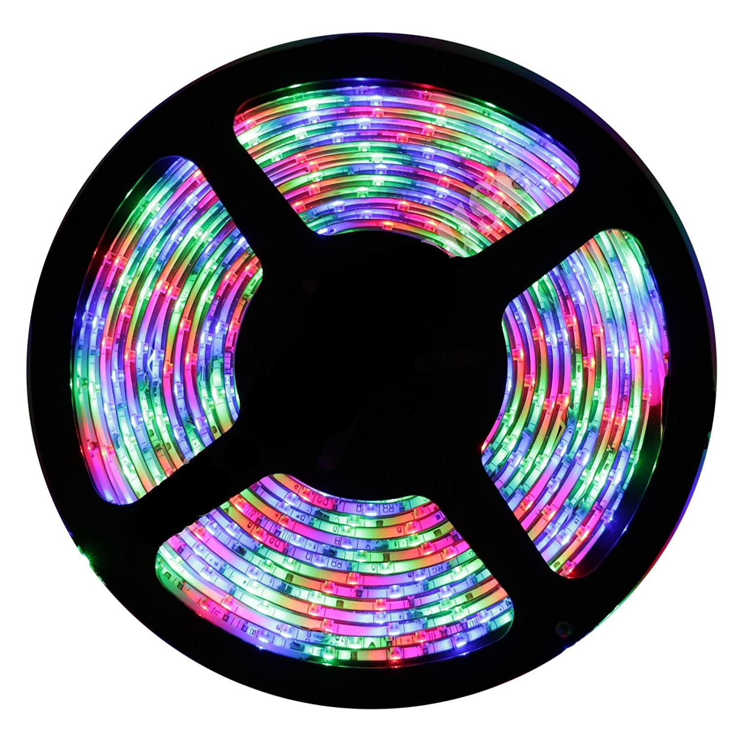 Buy non waterproof smd 3528 led strip lights 5 meter dc 12v buy non waterproof smd 3528 led strip lights 5 meter dc 12v adapter led dimmer controller multicolour rgb online at low prices in india aloadofball Image collections