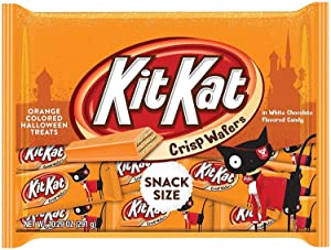 Kit Kat Orange-Colored Halloween Treats Snack Size Candy, 10.29 oz